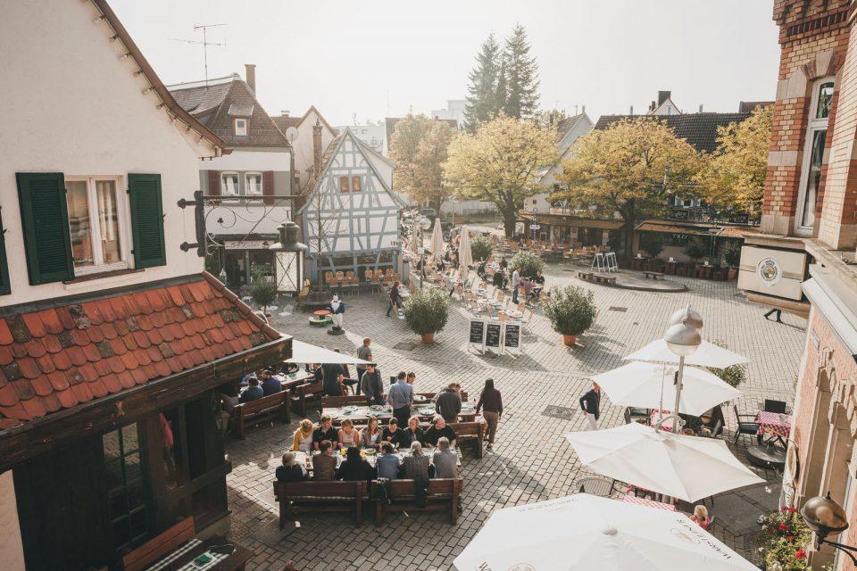 Außengastronomie Wettbachplatz