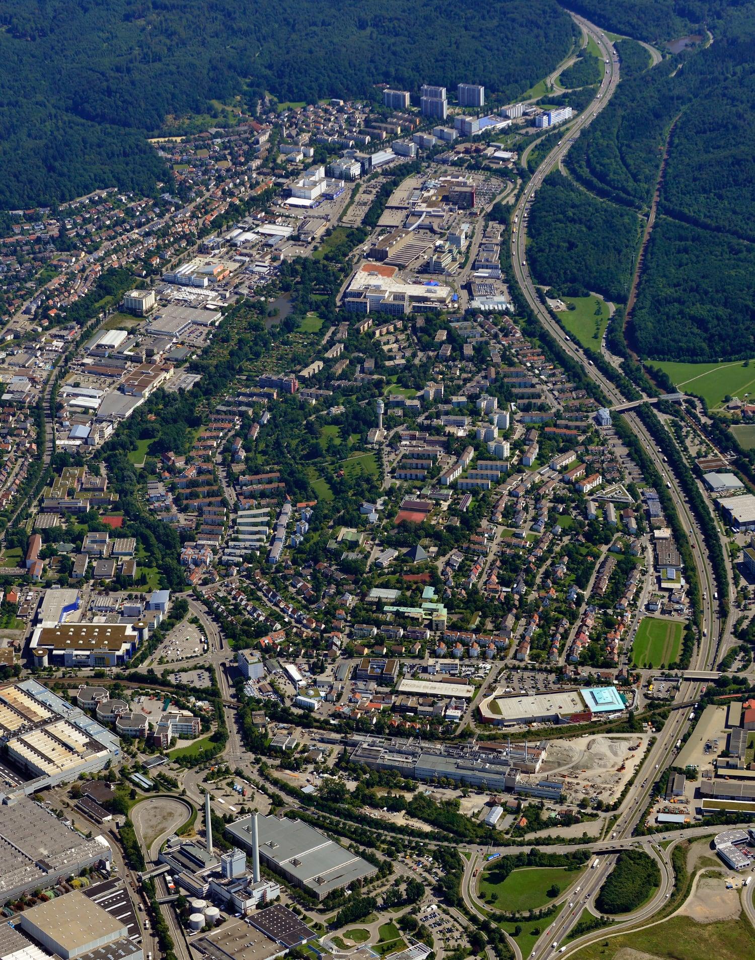 Luftbild Daimler Kernstadt