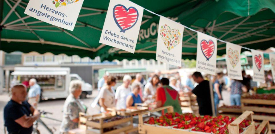 Wochenmarkt Erdbeeren