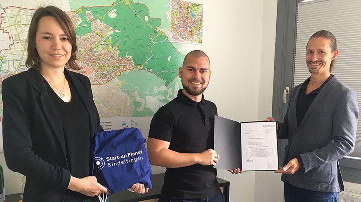 Einzug des jungen Unternehmens Toskeye in den Start-up Planet Sindelfingen